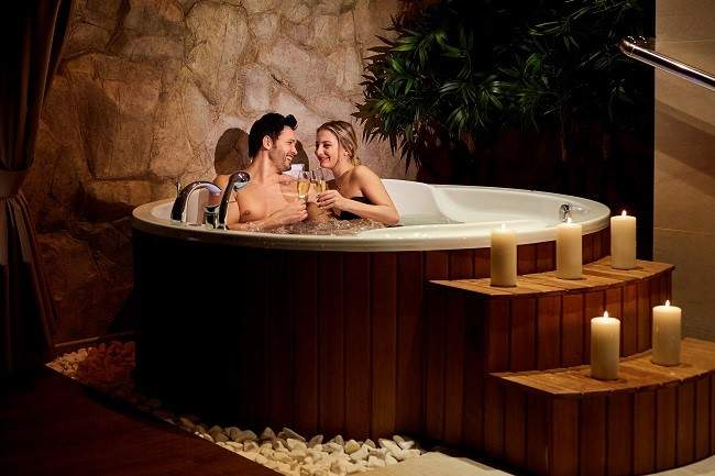 couple therapy in hot tub
