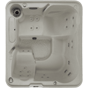 excursion free flow hot tub and spa top view