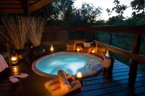 romantic hot tub date night