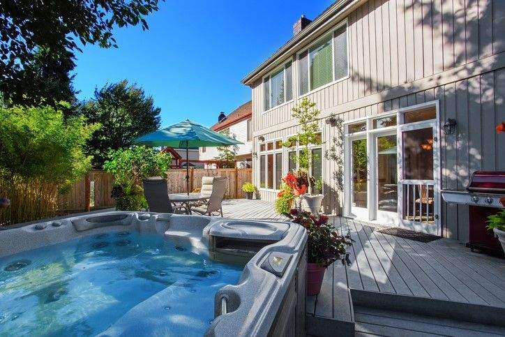 Spring Patio Décor Ideas for your back yard hot tub