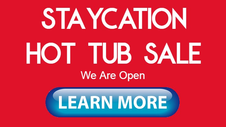 staycation hot tub sale