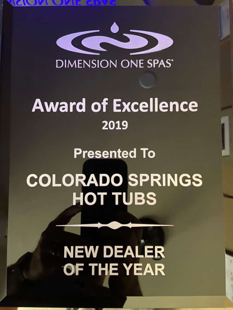 Dimension One Spas New Dealer of the Year